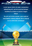 Soccer Cup Background. Ready for Your Text Royalty Free Stock Images