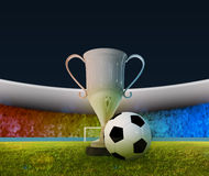 Soccer Cup and ball Stock Photography