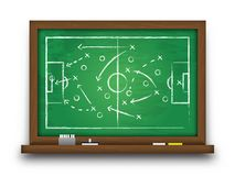 Soccer cup formation and tactic . Chalkboard with football game strategy  . Vector for international world championship tournament. 2018 concept Stock Photography