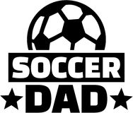 Soccer Dad with ball. Vector Royalty Free Stock Image