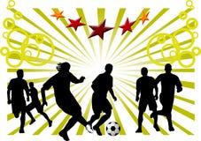 Soccer - the dangerous moment Stock Photos