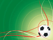 Soccer design background. With white and red wave Royalty Free Stock Image