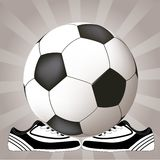Soccer design with ball and shoes Stock Photo