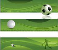 Soccer design banners Royalty Free Stock Photos