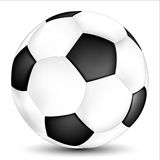Soccer design. Soccer begins with the football anthem and a legendary ball Stock Photos