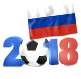 2018 Soccer Design. Creative Graphic Concept Royalty Free Stock Photo