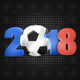 2018 Soccer Design Royalty Free Stock Photo