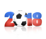 2018 Soccer Design. Creative Graphic Concept Stock Image