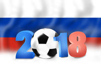 2018 Soccer Design. Creative Graphic Concept Stock Photo