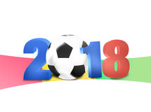2018 Soccer Design. Creative Graphic Concept Stock Photos