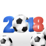 2018 Soccer Design. Creative Graphic Concept Royalty Free Stock Photography