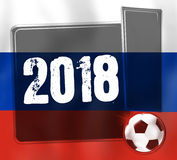 Soccer Design. Creative Image Graphic Illustration Design Stock Photography