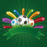 soccer design element Royalty Free Stock Image
