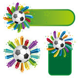soccer design element Stock Images