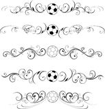 Soccer design elements Royalty Free Stock Images