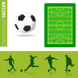 Soccer design elements Stock Photo