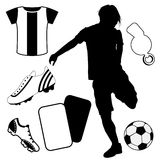 Soccer design elements Stock Images