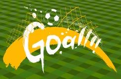 Soccer design over green background royalty free illustration