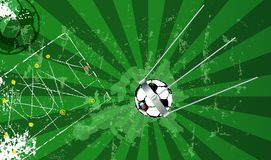 Soccer design with famous sputnik satellite as soccer ball. Soccer design: Great soccer event this year The famous sputnik satellite and soccer ball, vector Royalty Free Stock Photo
