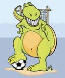 Soccer dinosaur Stock Photo