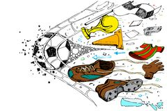 Soccer Doodle Stock Image