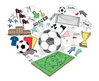 Soccer doodle Royalty Free Stock Images