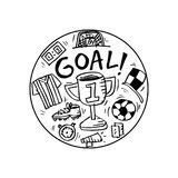 Soccer doodle illustration. Royalty Free Stock Photos