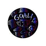 Soccer doodle illustration. Royalty Free Stock Image