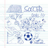 Soccer Doodle Stock Photography