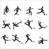 Soccer dribbling drills set Royalty Free Stock Photo