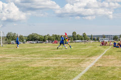 Soccer duel Royalty Free Stock Photos