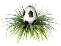 Soccer egg. Soccer/football themed easter egg. 3D render Stock Images