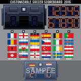 Soccer Electronic Scoreboard Template Stock Image