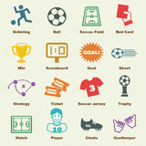 Soccer elements Royalty Free Stock Images
