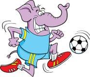 Soccer Elephant. Cartoon illustration of an elephant playing soccer Royalty Free Stock Photography
