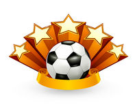 Soccer Emblem. Computer illustration, isolated on the white Royalty Free Stock Photo