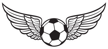 Soccer emblem Stock Photo