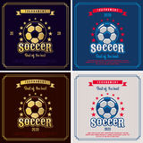 Soccer emblem. Royalty Free Stock Images