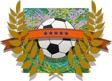 Soccer emblem Stock Image