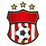 Soccer Emblem. Vector Illustration of Soccer Emblem Isolated on White Royalty Free Stock Photography