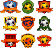 Soccer emblems Stock Images