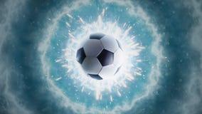 Soccer energy. Panorama. Global soccer energy Smoke Stock Photography