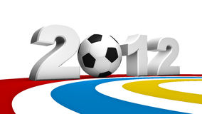 Soccer euro 2012. Abstract 3D rendering of soccer uefa euro 2012 Royalty Free Stock Photography