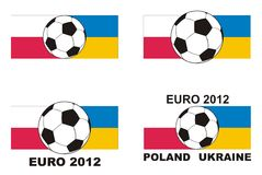 Soccer - Euro 2012 Poland Ukraine vector. UEFA Euro 2012 - vector soccer, flag and text Stock Photography