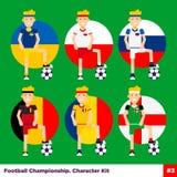 Soccer, european football vector flat characters set. royalty free illustration