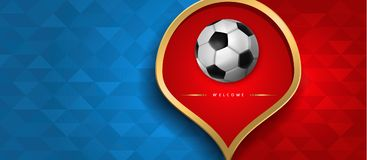Russian web banner of special sport event Royalty Free Stock Image