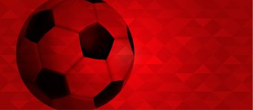 Russian web banner of special sport event Stock Images