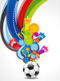 Soccer Explode Background Stock Photos