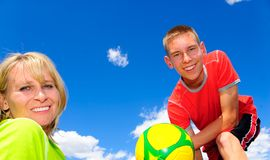 Soccer family Royalty Free Stock Images