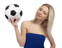 Soccer fan Royalty Free Stock Images